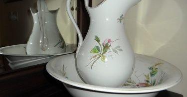 Wash Bowl in Mirror