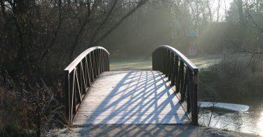 Bridge at Dicks Dam Park in Bolton