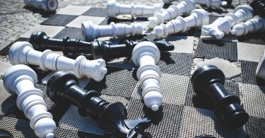 Overturned Chess Pieces