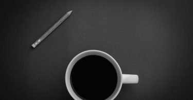 Coffee and pencil