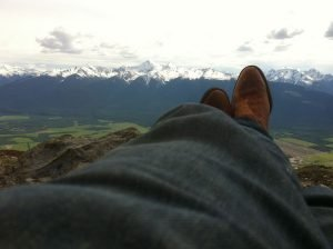 Feet up mountainview