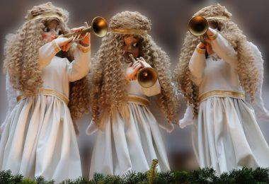 Musical angel ornaments