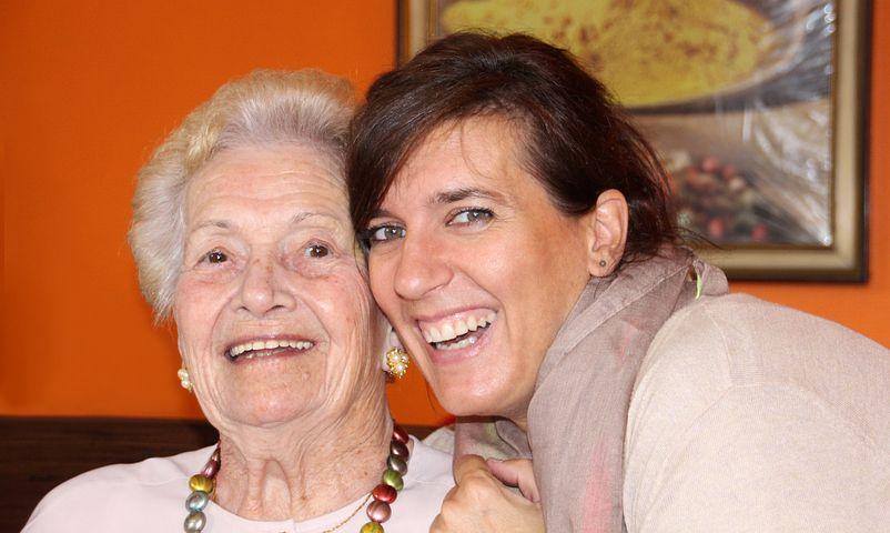 Lady and senior