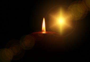 Candle and Christmas star