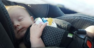 Infant in a car seat