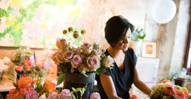 Karen Cal among the Flowers