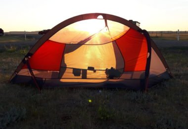 Sunrise on the Prairies in our Tent