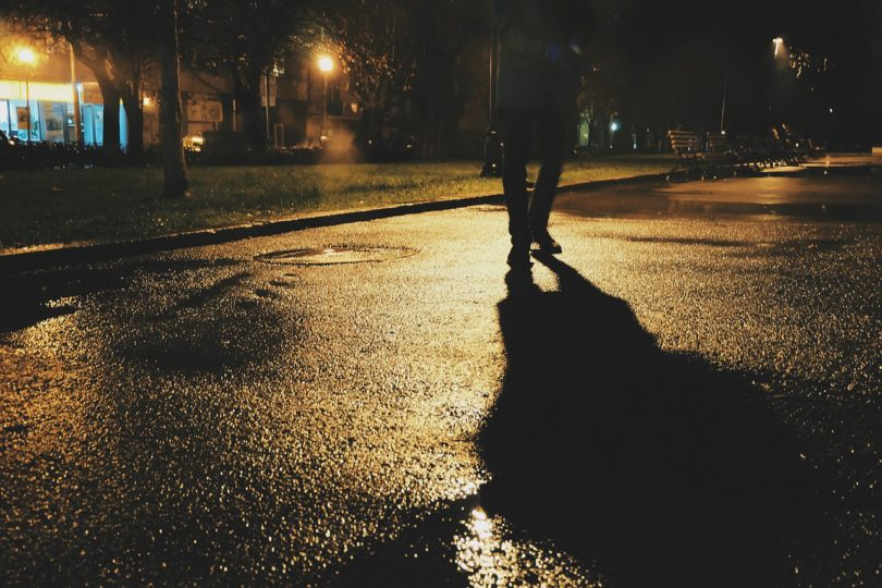 Pedestrian at night