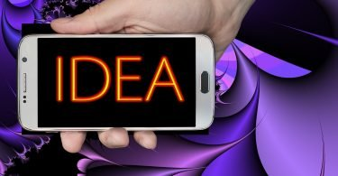 Mobile phone word Idea