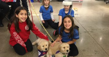 Exchange birthday kids with puppies