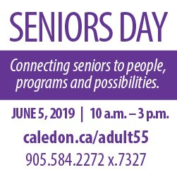 Caledon Seniors Day ad