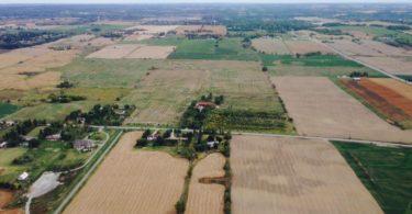 Aerial view farmland