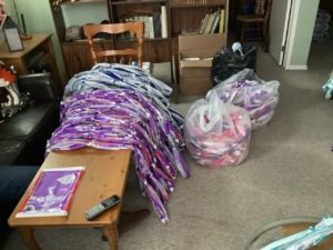 Supplies for mat-weaving