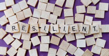 Tiles that spell Resilient