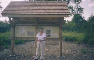 Heather at Heritage Kiosk