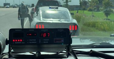 Radar Clocked 187 KM/H