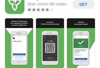 Screenshot of app